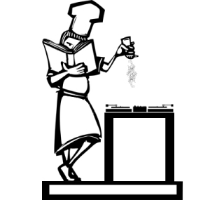 Chef with cookbook
